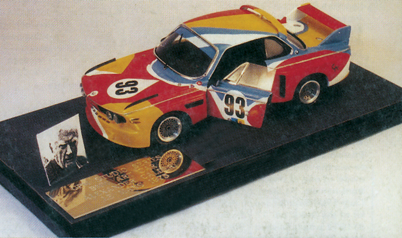 grand prix models studio alexander calder bmw art car, 1:43 scale models, built