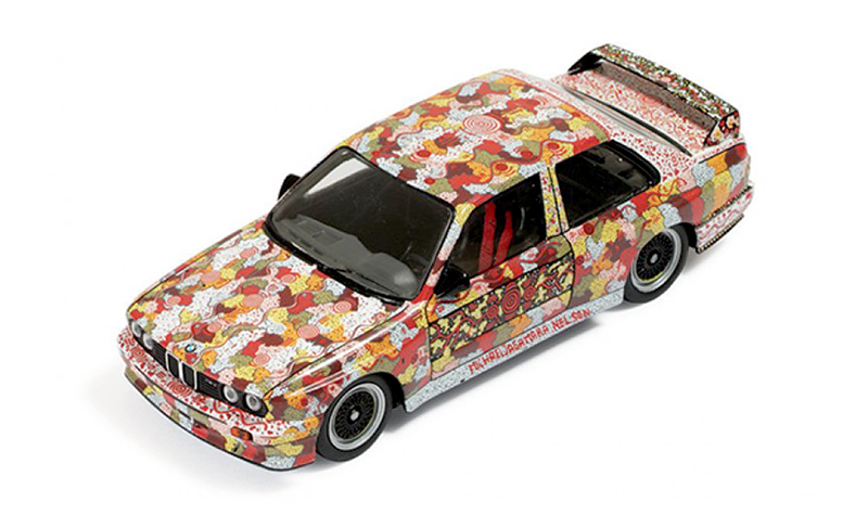 ixo michael jagamara nelson bmw art car, 1:43 scale models, diecast