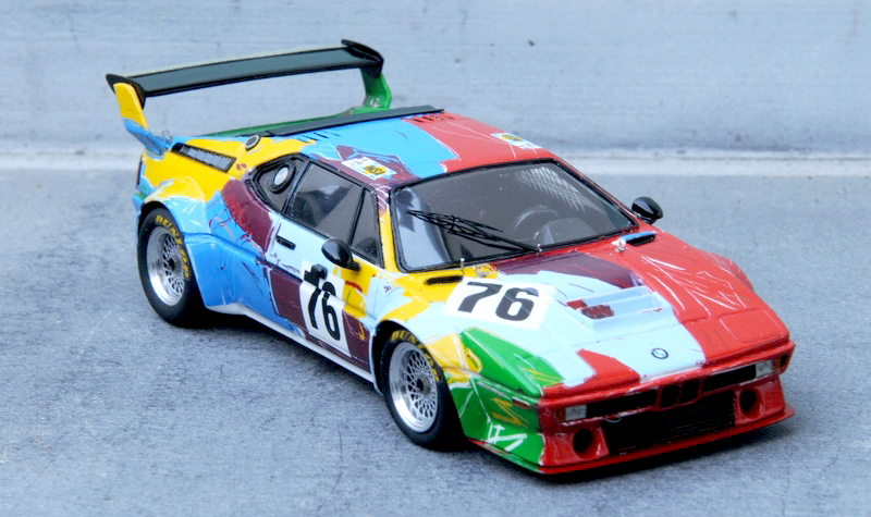 renaissance andy warhol bmw art car, 1:43 scale models, kit