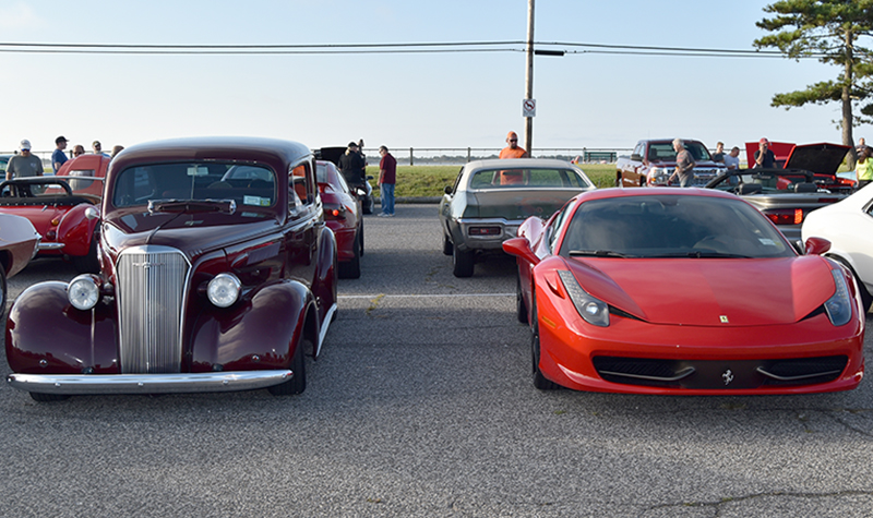 old and new__cars and coffee at oak beach 2