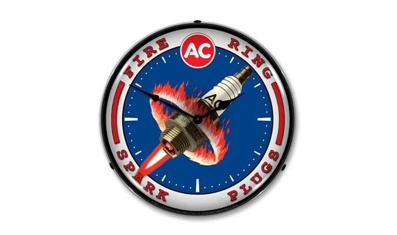 ac spark plugs clock from jack&friends