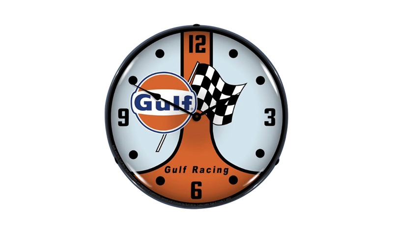 gulf racing clock from retroplanet