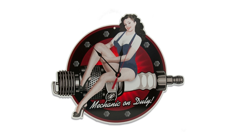 mechanic on duty clock from retroplanet