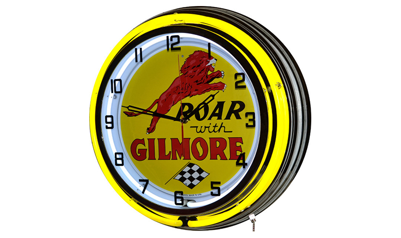 roar with gilmore neon clock from classic neon
