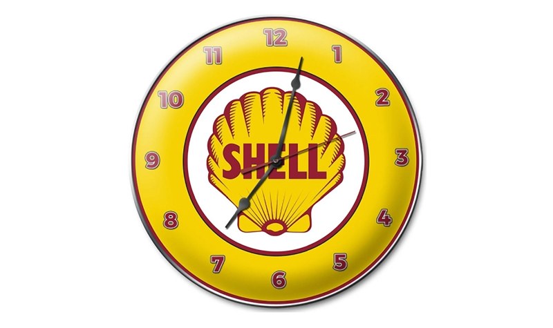 shell scallop clock from retroplanet