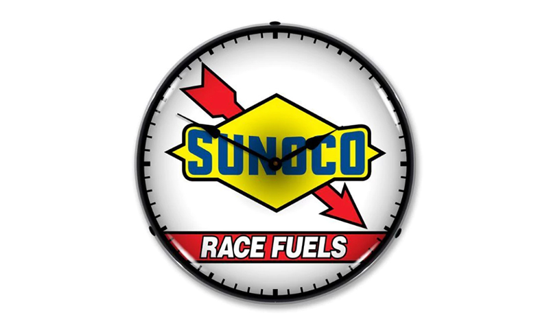 sunoco race fuel clock from jack&friends