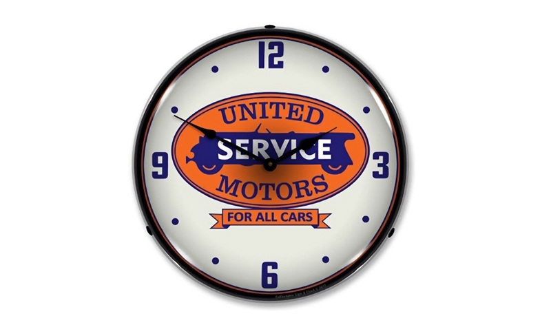 united motors clock from retroplanet
