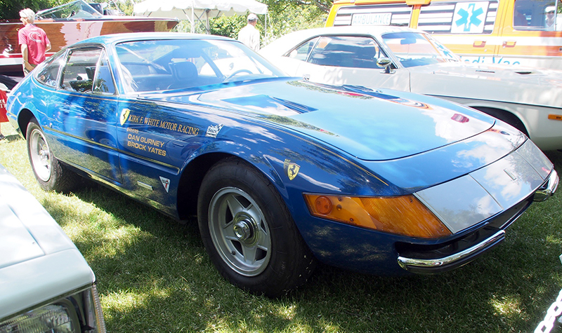 ferrari daytona cannonball rally