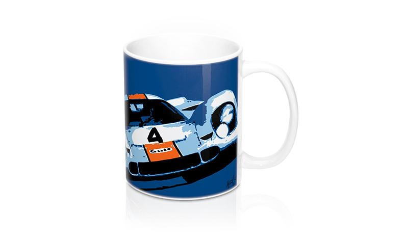 hunziker gulf porsche 917 mug -- Gulf Collectibles