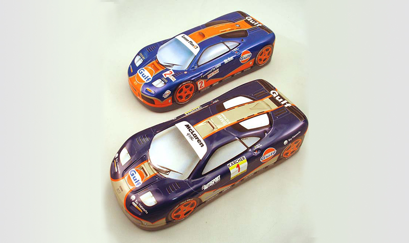 motorsport collector McLaren Tins -- Gulf Collectibles