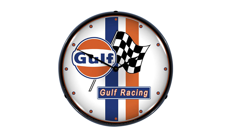 retroplanet gulf stripe clock -- Gulf Collectibles