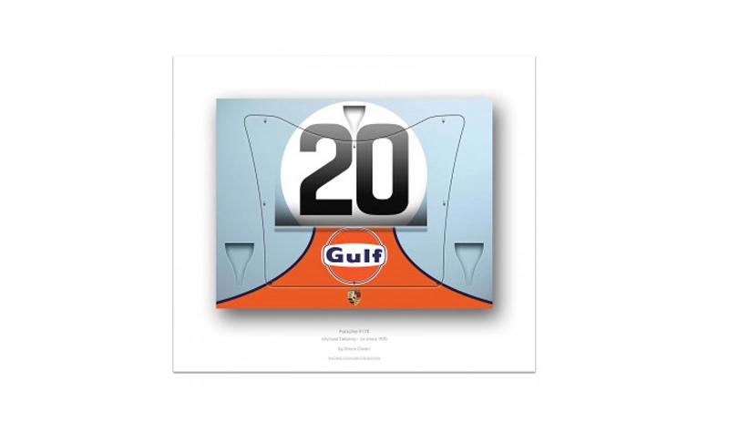 simon owen porsche 917 print -- Gulf Collectibles