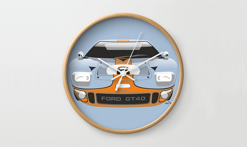 society6 gulf gt40 clock -- Gulf Collectibles