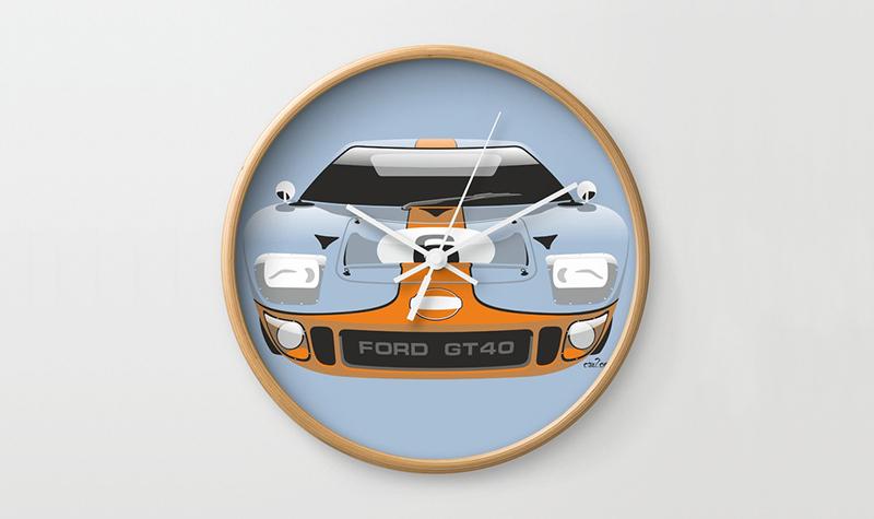 society6 gulf gt40 clock -- Gulf Collectibles