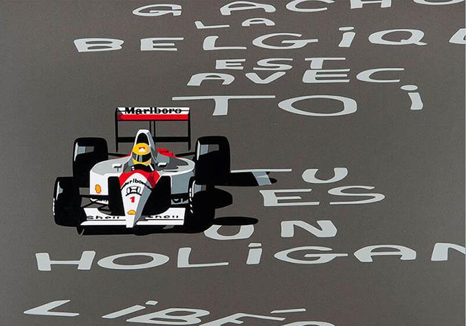 Speedicons-Ayrton-Senna Motorsport art by Joel Clark