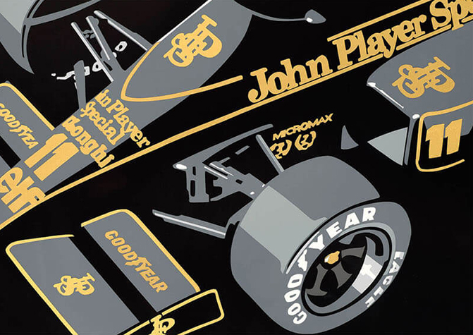 Speedicons-JPS-Lotus Motorsport art by Joel Clark