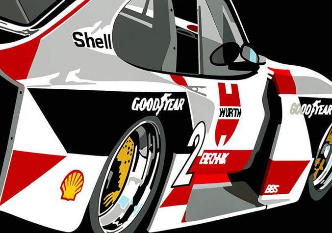 Speedicons-Zakspeed-Capri  Motorsport art by Joel Clark
