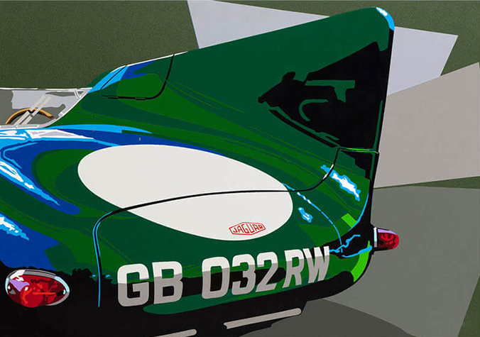 Speedicons-jaguar-D  Motorsport art by Joel Clark