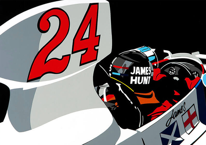 Speedicons-james-hunt Motorsport art by Joel Clark