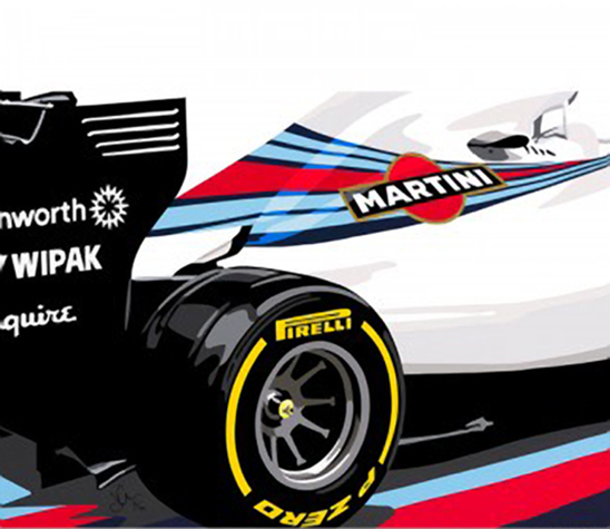 Speedicons-williams-f1-fw36  Motorsport art by Joel Clark