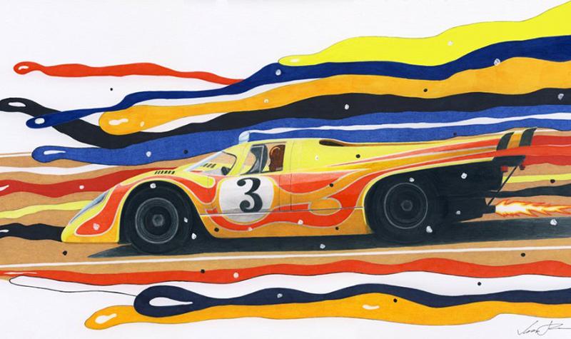psychedelic porsche 917 by klem