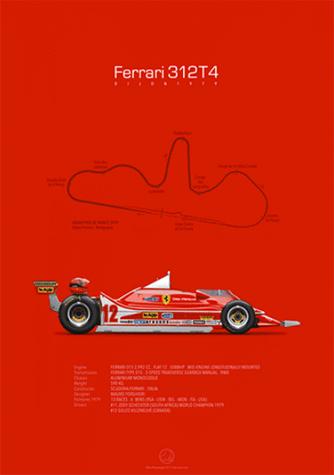 Ferrari 312T4 Dijon-Prenois 1979, poster art by Last Corner