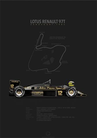 Lotus-Renault 97T Zandvoort 1985, poster art by Last Corner