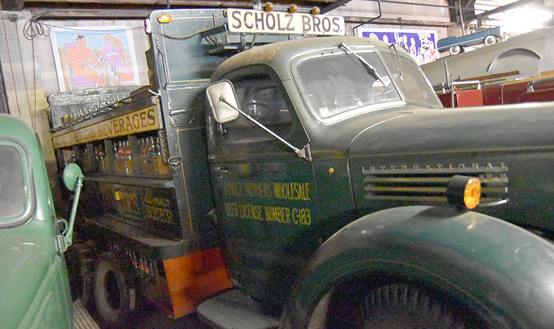 seltzer truck in Lenny's Garage