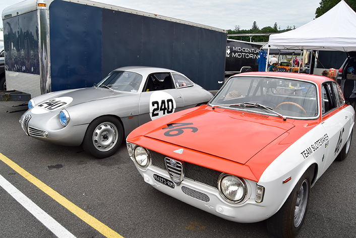 alfa romeo group at the lime rock vintage festival 2018
