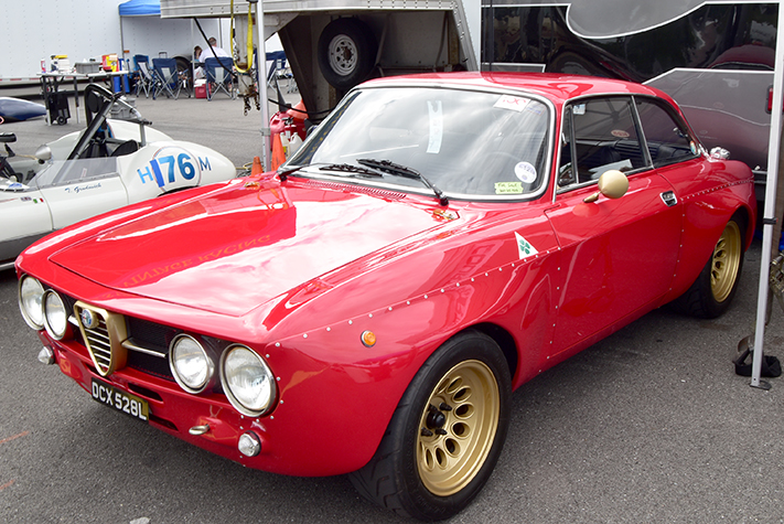 alfa romeo gta at the lime rock vintage festival 2018