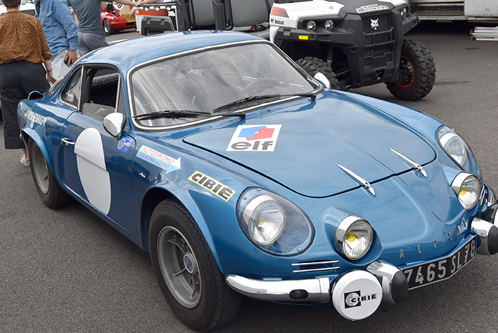 alpine a110 at the lime rock vintage festival 2018