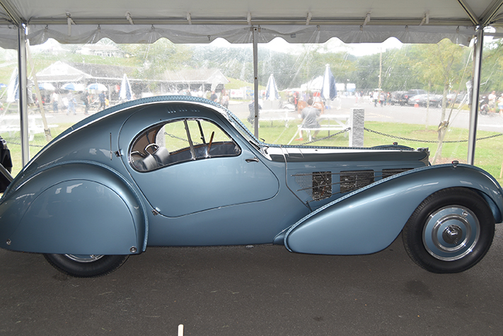 bugatti atlantic at the lime rock vintage festival 2018