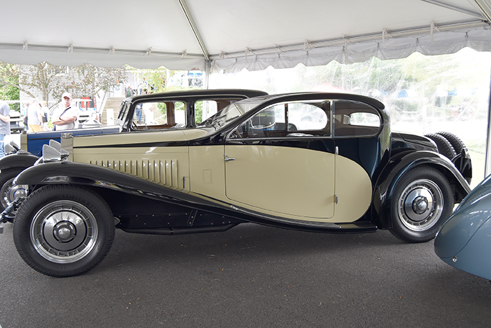 bugatti coupe at the lime rock vintage festival 2018