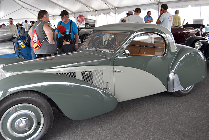 bugatti coupe2 at the lime rock vintage festival 2018