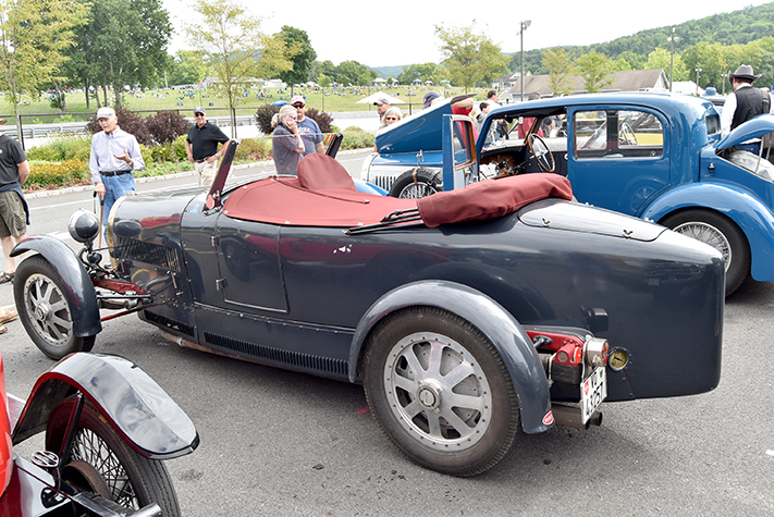 bugatti group at the lime rock vintage festival 2018