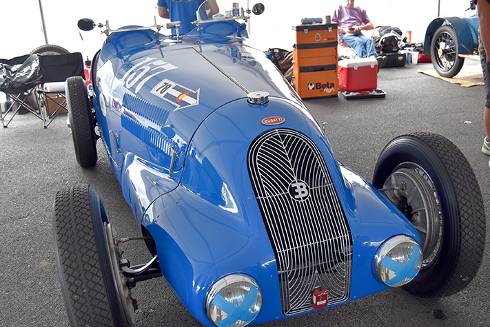 1937 bugatti t57 at the lime rock vintage festival 2018
