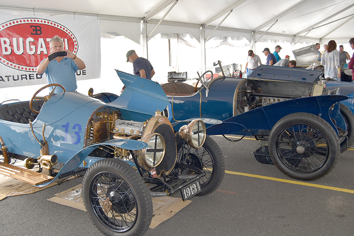 bugatti tent2 at the lime rock vintage festival 2018