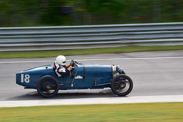 1926 bugatti t37 at the lime rock vintage festival 2018