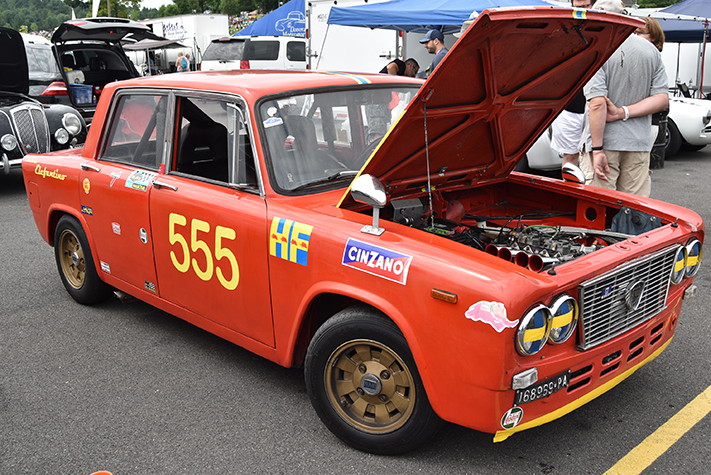 1965 lancia fulvia zagato scuderia elefantino at the lime rock vintage festival 2018