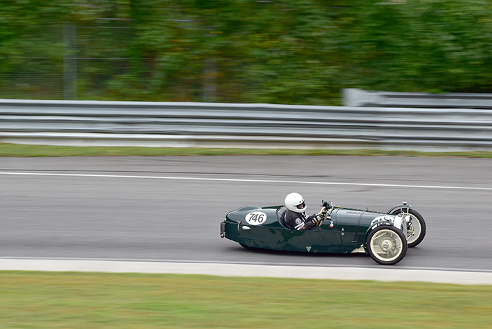 1938 morgan f type at the lime rock vintage festival 2018