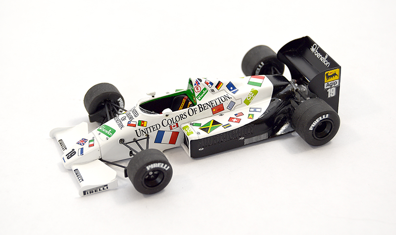 provence moulage toleman tg185 benetton, more art car models in 1:43 scale