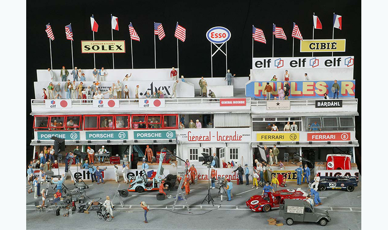 lemans-movie-set this diorama by Jean-Claude Baudier (Chrono43)