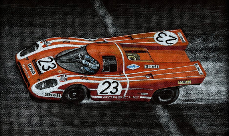 lemans23 motorsport art by paul chenard