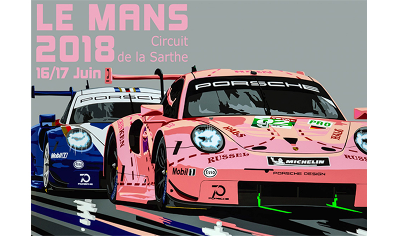 lemans 2018 poster by joel clark