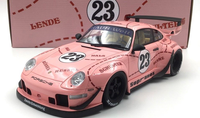 gt spirit porsche 993 pink pig 1-18th scale