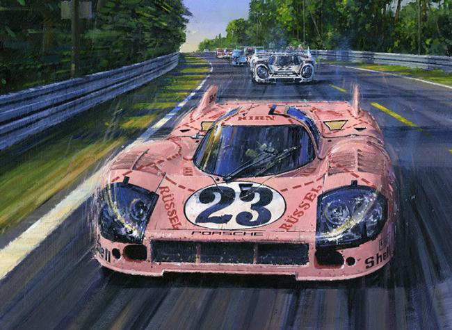 porsche 917-20  pink pig by nicholas watts