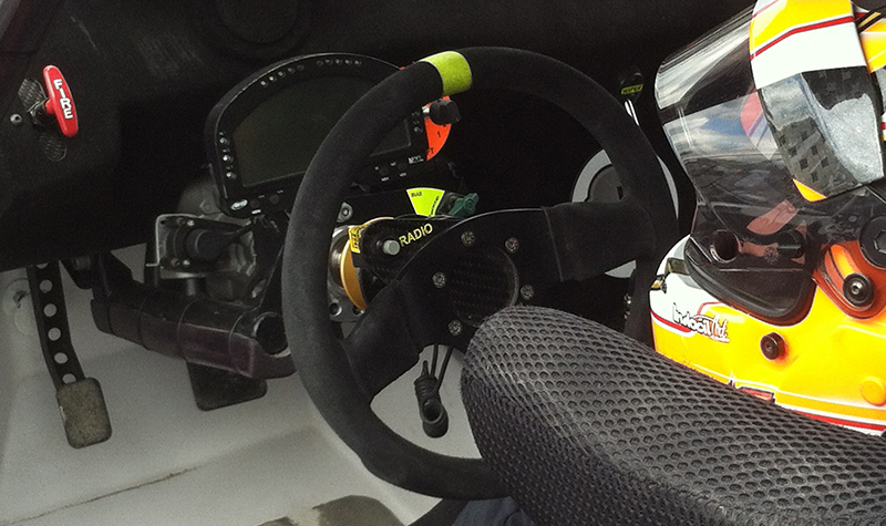 the office of a rally car
