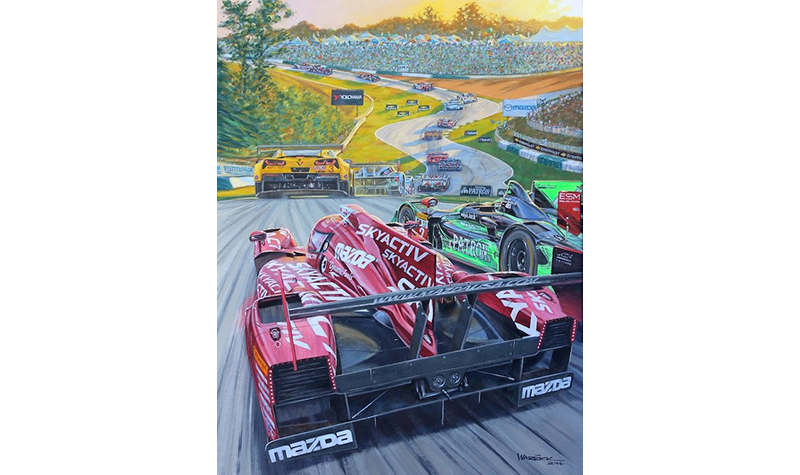2014 petite lemans  motorsport art by roger warrick