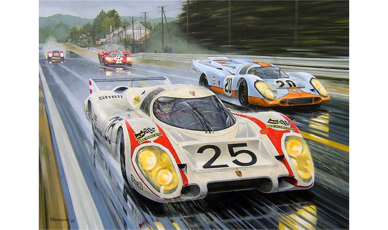 quick vic motorsport art by roger warrick