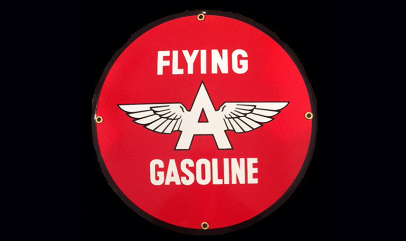 flyng a gas ceramic/steel sign by garageart.com
